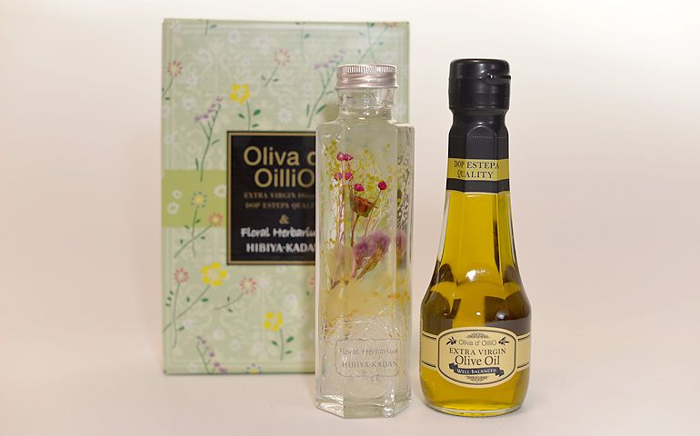 Oliva d' OilliO エキストラバージンオリーブオイル 日比谷花壇 限定ハーバリウム