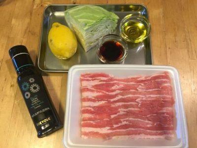 キャベツの豚肉巻きレモン醤油がけの作り方