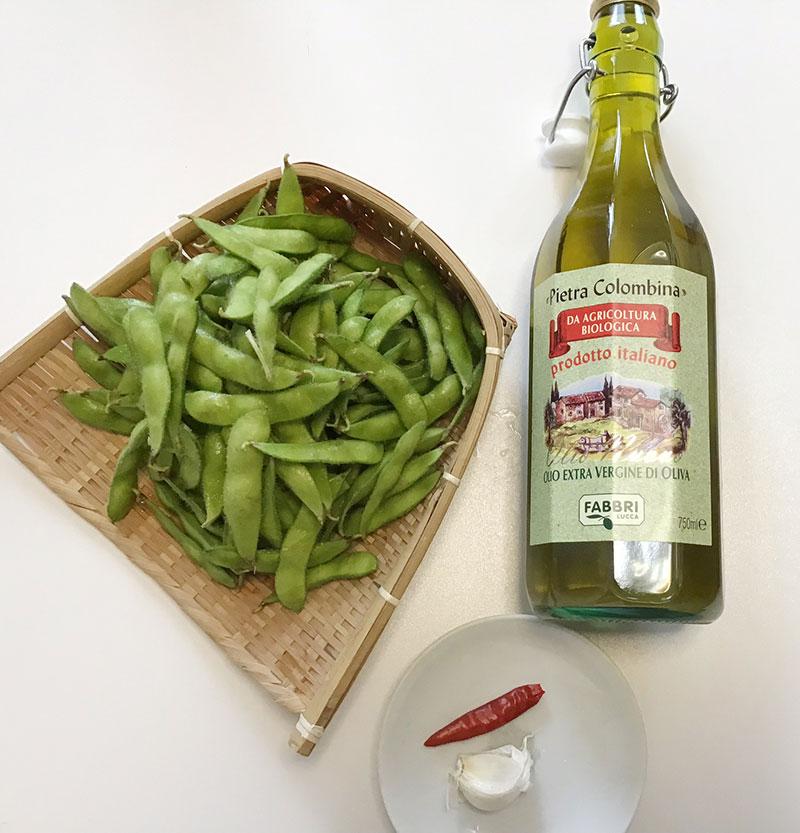 ガーリック焼き枝豆の作り方