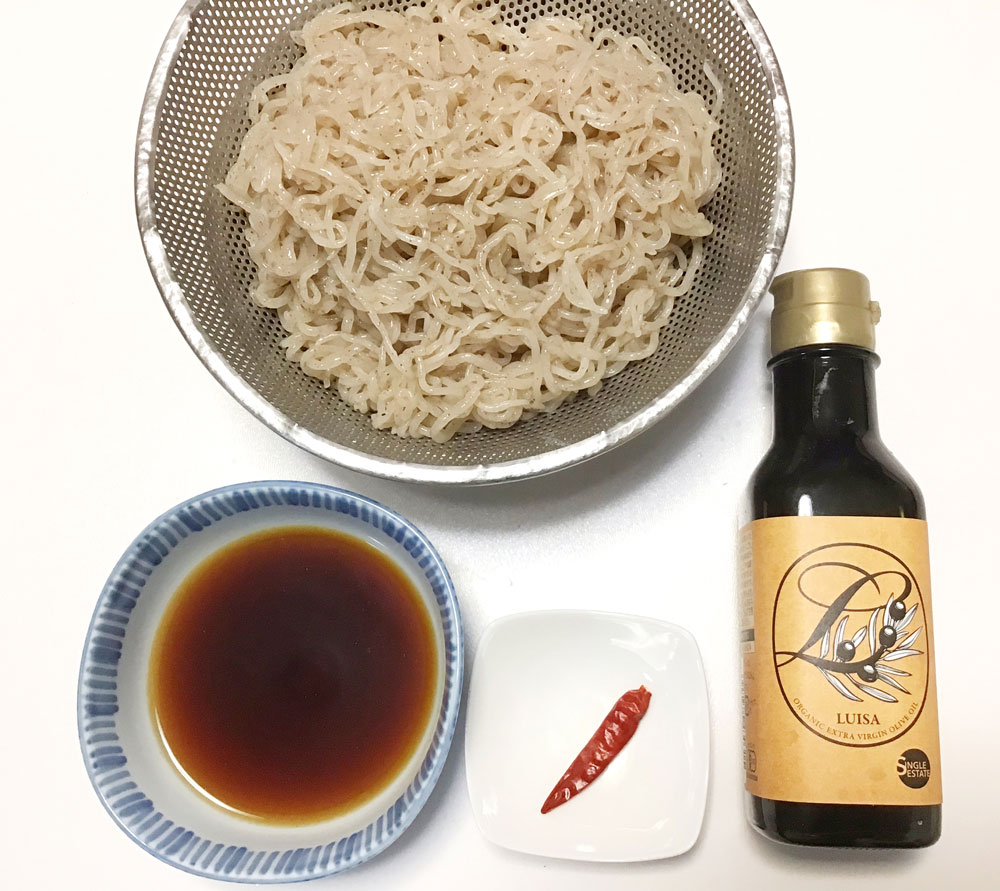 zen pasta with olive oil