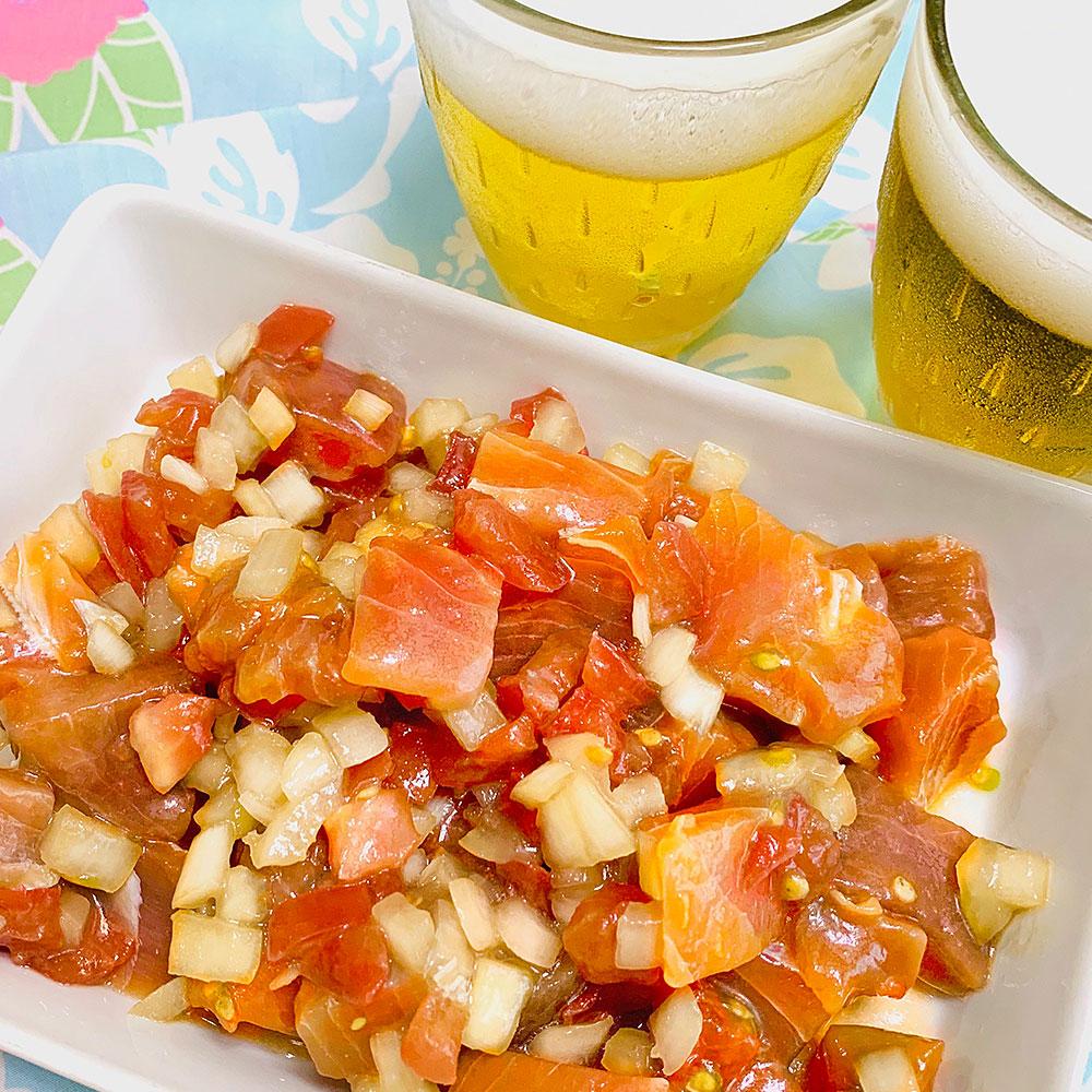 香ばしいごま油を使ったハワイの味「ポキ」のレシピ