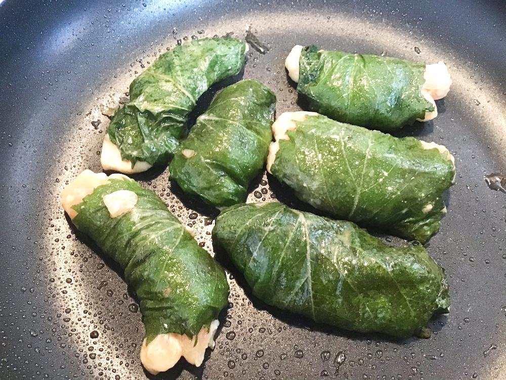 鶏むね肉の青シソ巻き(焼き)