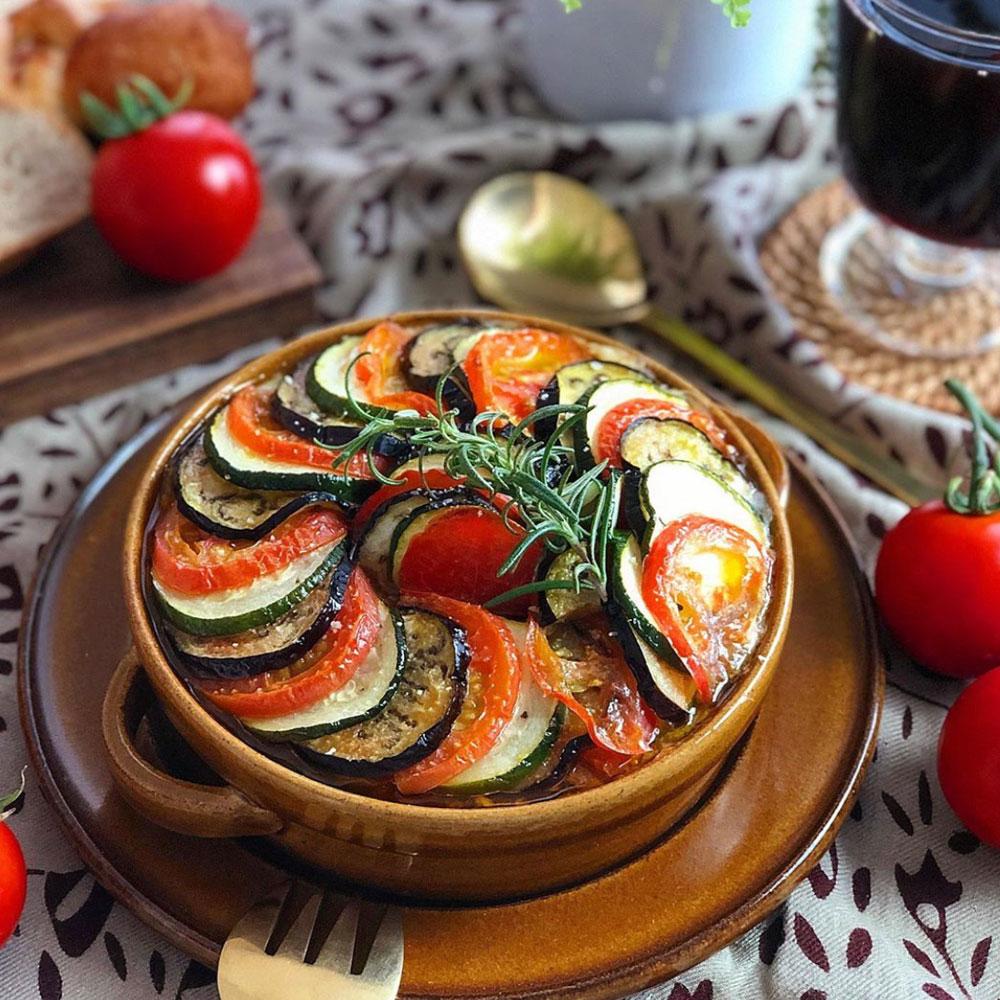 夏野菜のミートグラタン