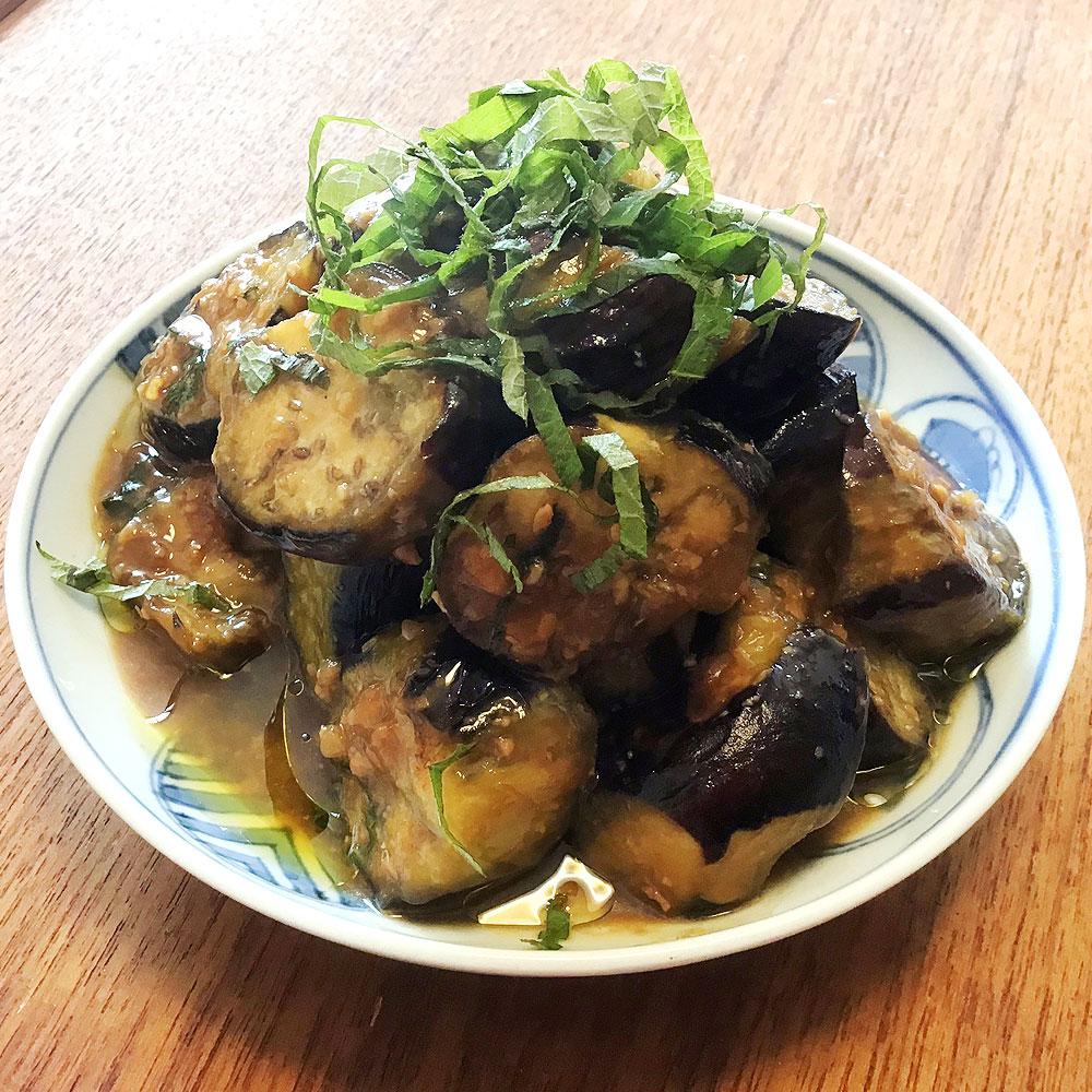 オリーブオイルがカギ、ナスの炒め味噌煮