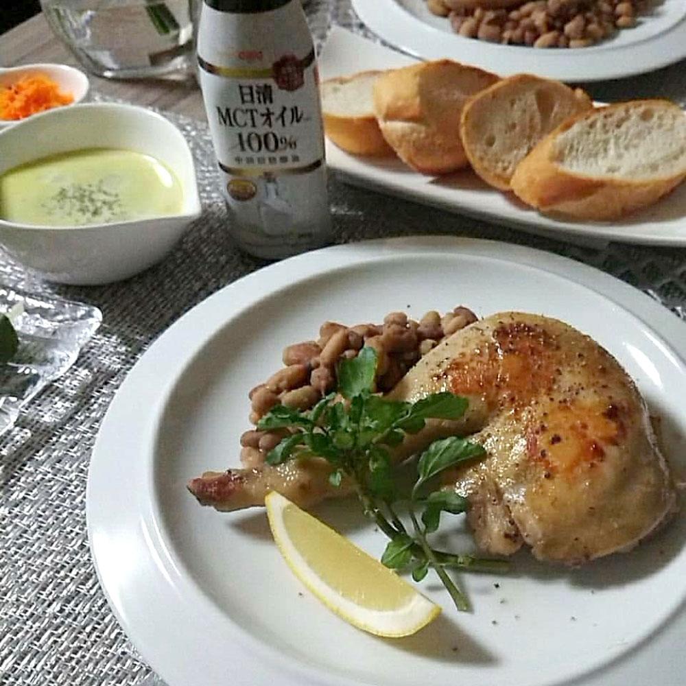 MCTオイルを使った鶏肉のコンフィと、残ったオイルで激ウマペペロンチーノ