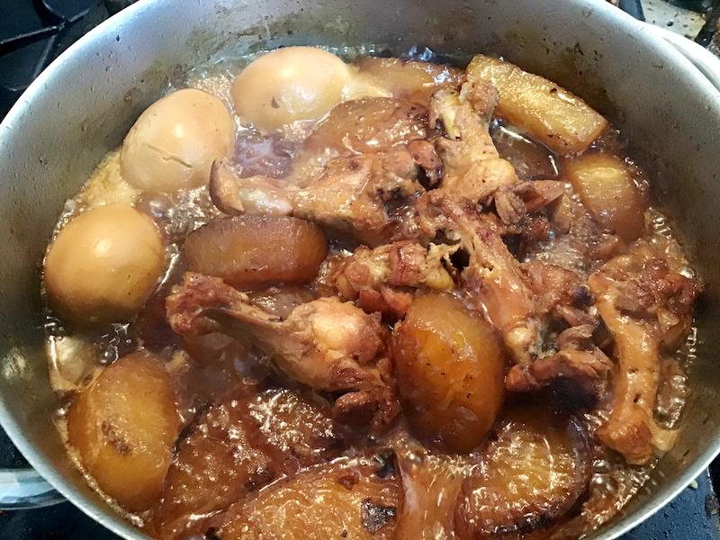 大根と手羽元のオイル焼き煮:手羽元もホロホロに煮上がる