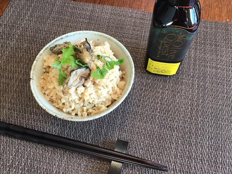 オリーブオイルと旬の牡蠣めし:牡蠣とオイルの旨味がギュッと