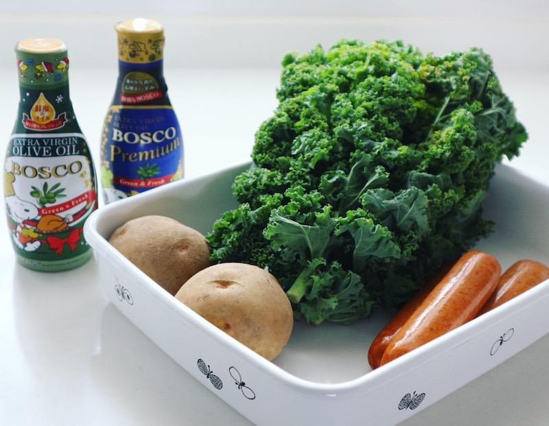 青菜のオイルスープ(カルド・ヴェルデ風)の作り方