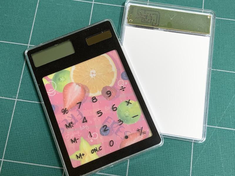 ダイソーのスケルトン電卓を簡単リメイク