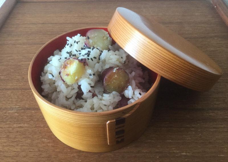 甘い芋と薄い塩味のご飯が合う!