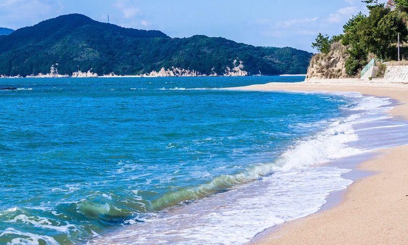 小豆島最大の海水浴場「オリーブビーチ」