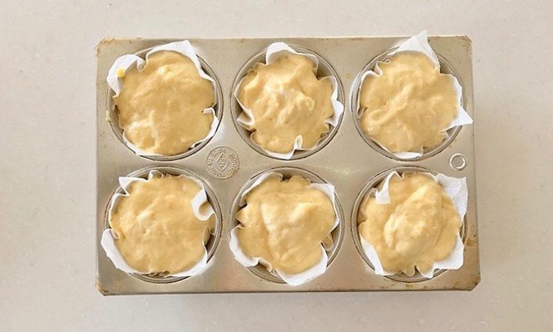 オリーブオイルとチーズの塩マフィン