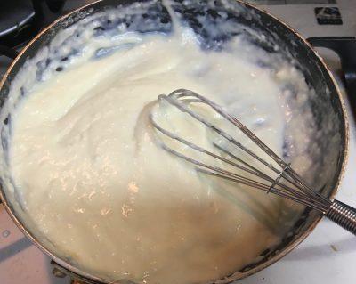 オリーブオイルでホワイトソース