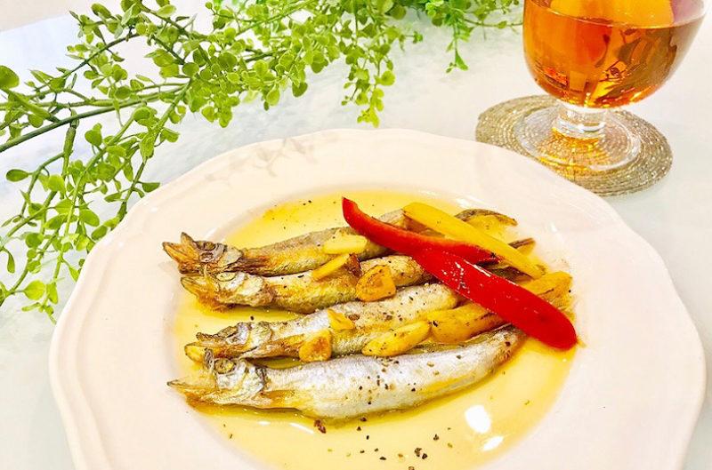 食卓にあと一品「ふっくらジューシーししゃものガーリックオリーブオイル焼き」栄養満点お手軽レシピ