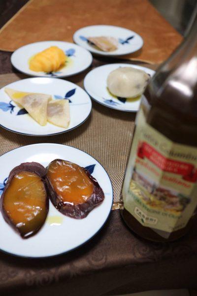 秋色和菓子とオリーブオイル
