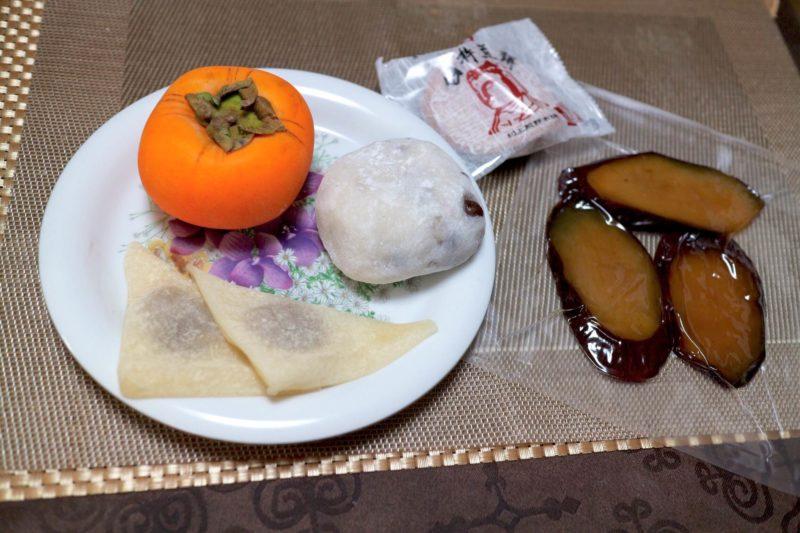 秋色和菓子にオリーブオイル