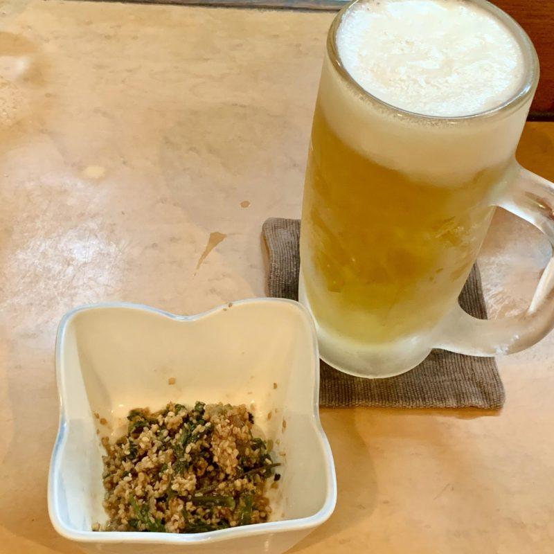 こちらは白ごまたっぷり版。生ビールが止まりません!