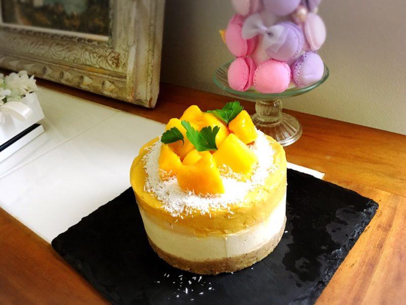ひんやりマンゴーのローアイスクリームケーキ