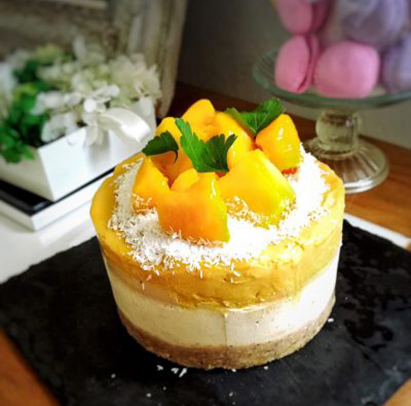 マンゴーのローアイスクリームケーキ