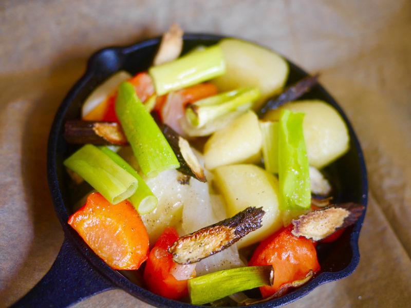 時短、根菜のグリルサラダで身体を温めよう