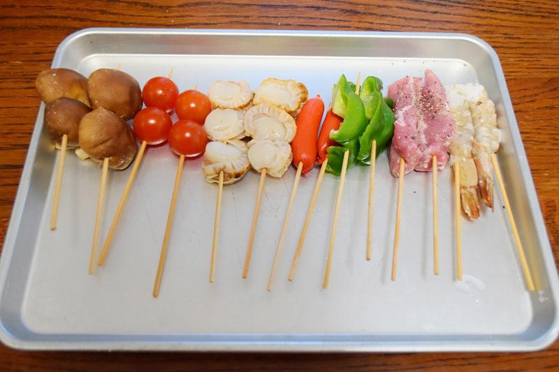 オリーブオイルでカラッと揚げる串揚げ