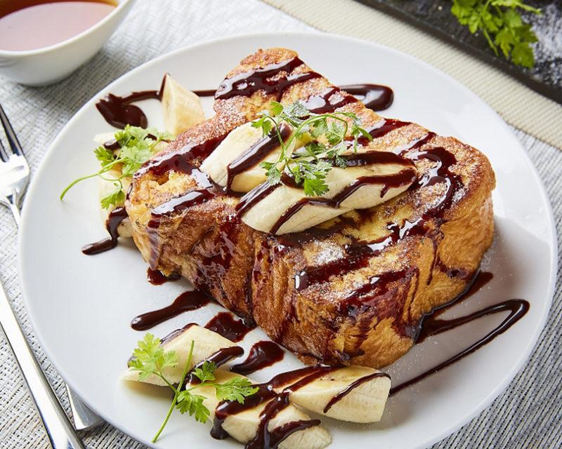 高級フレンチトースト チョコバナナ:¥1,300