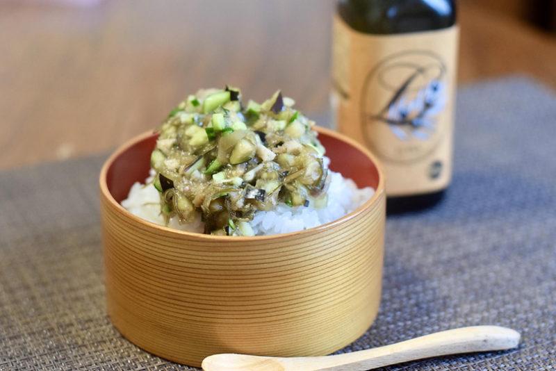 """夏野菜を使った山形の郷土料理""""だし""""とオリーブオイルで夏のかきこみ飯"""