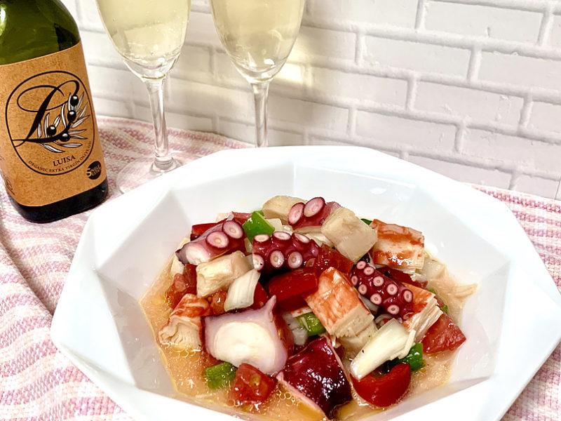 夏野菜はオリーブオイルと一緒にスペインバルのタパス料理「サルピコン」に!