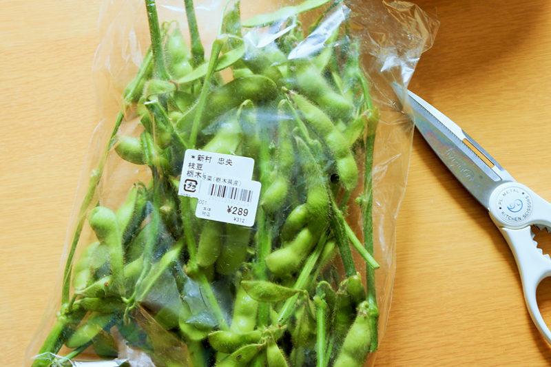 蒸し枝豆の作り方