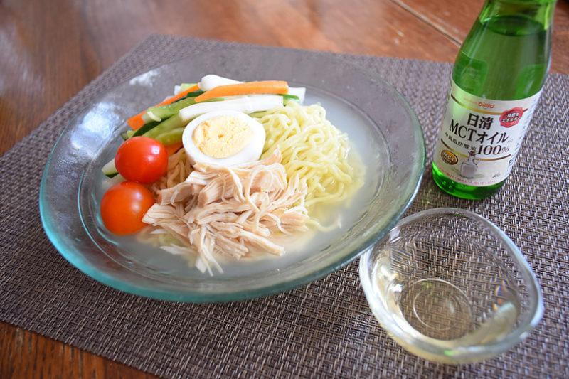 簡単!半日でできる水キムチとMCTオイルを使った冷麺で腸活