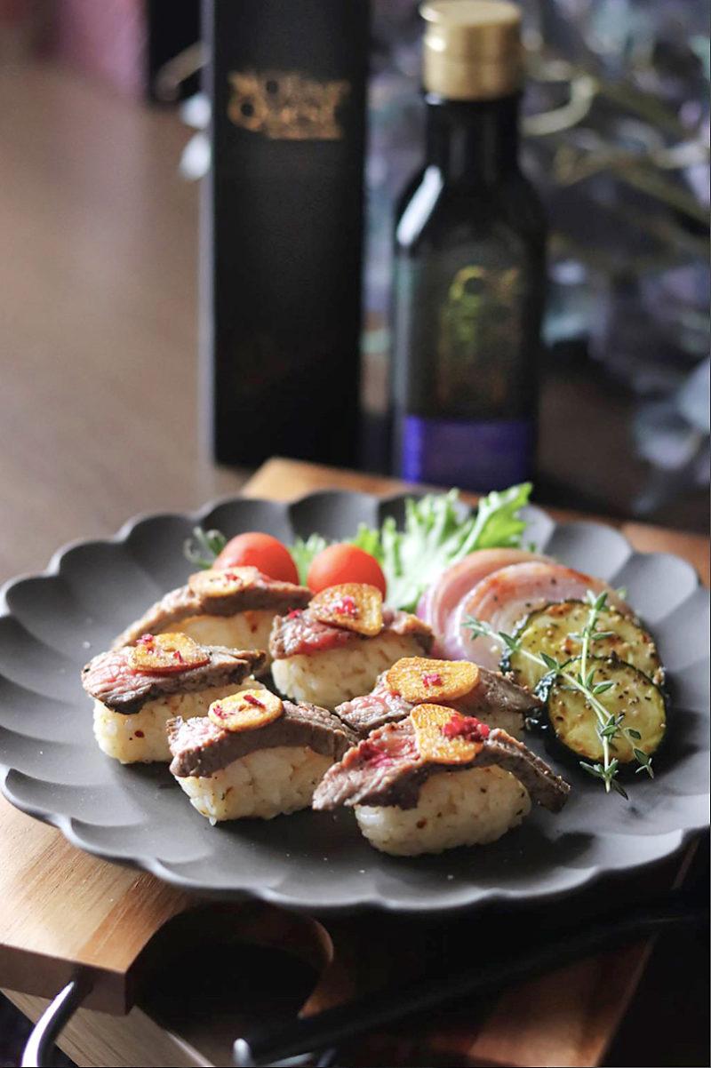 ダブルガーリックステーキ寿司 作り方のポイント