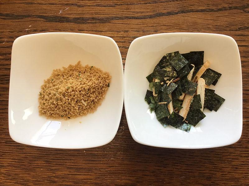 松茸の味お吸い物を具材と顆粒分に分ける
