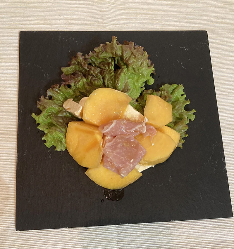 柿と生ハムサラダ