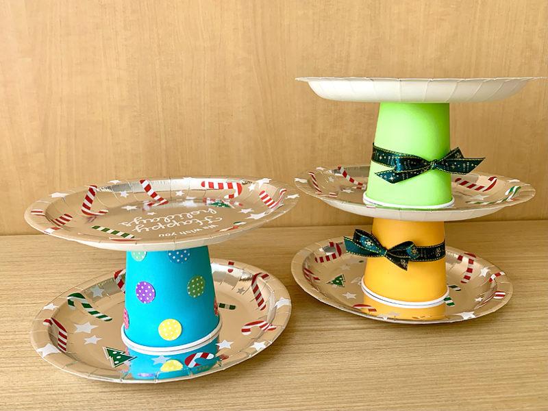 紙皿ケーキスタンドを作ろう