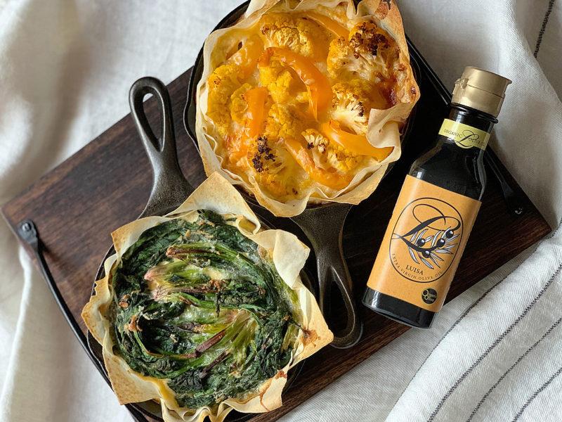 オリーブオイルを使った冬野菜のキッシュ