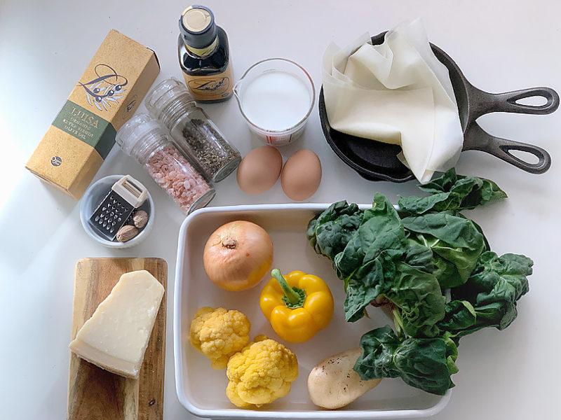 オリーブオイルを使った冬野菜のキッシュの作り方