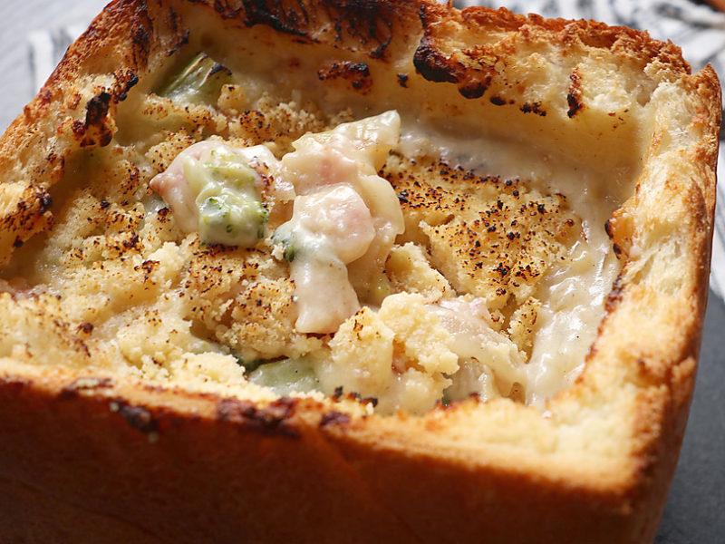 チーズを乗せて焼き色がつくまで15分焼く