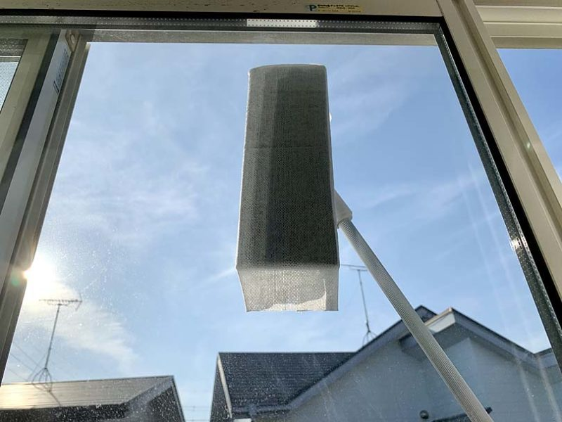 外側の窓が拭けます
