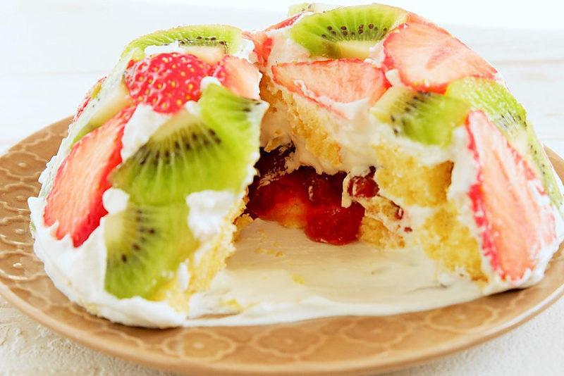 ミニドームケーキの断面