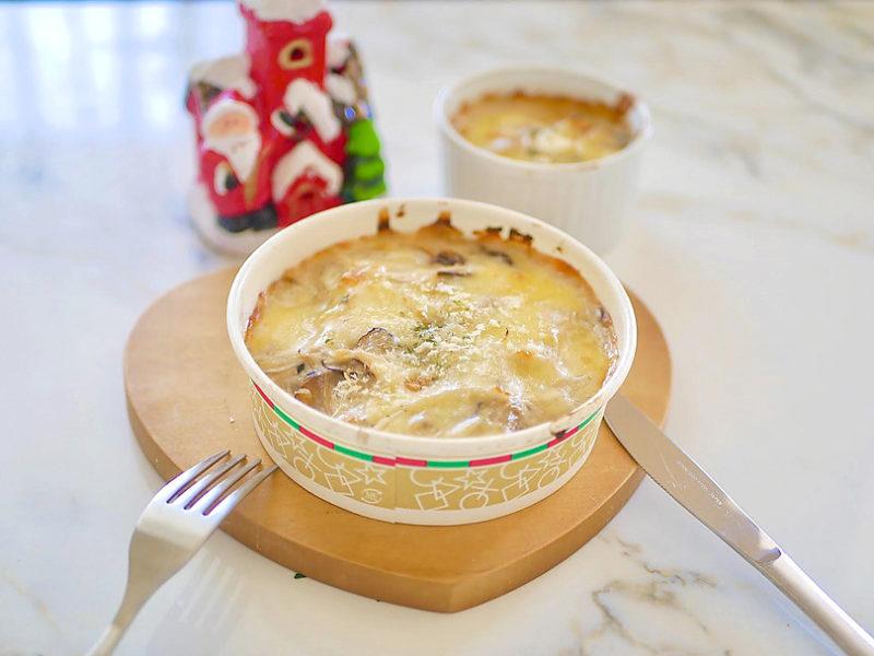 ポルチーニ茸を使ったクリームグラタンとポルチーニソースの活用方法