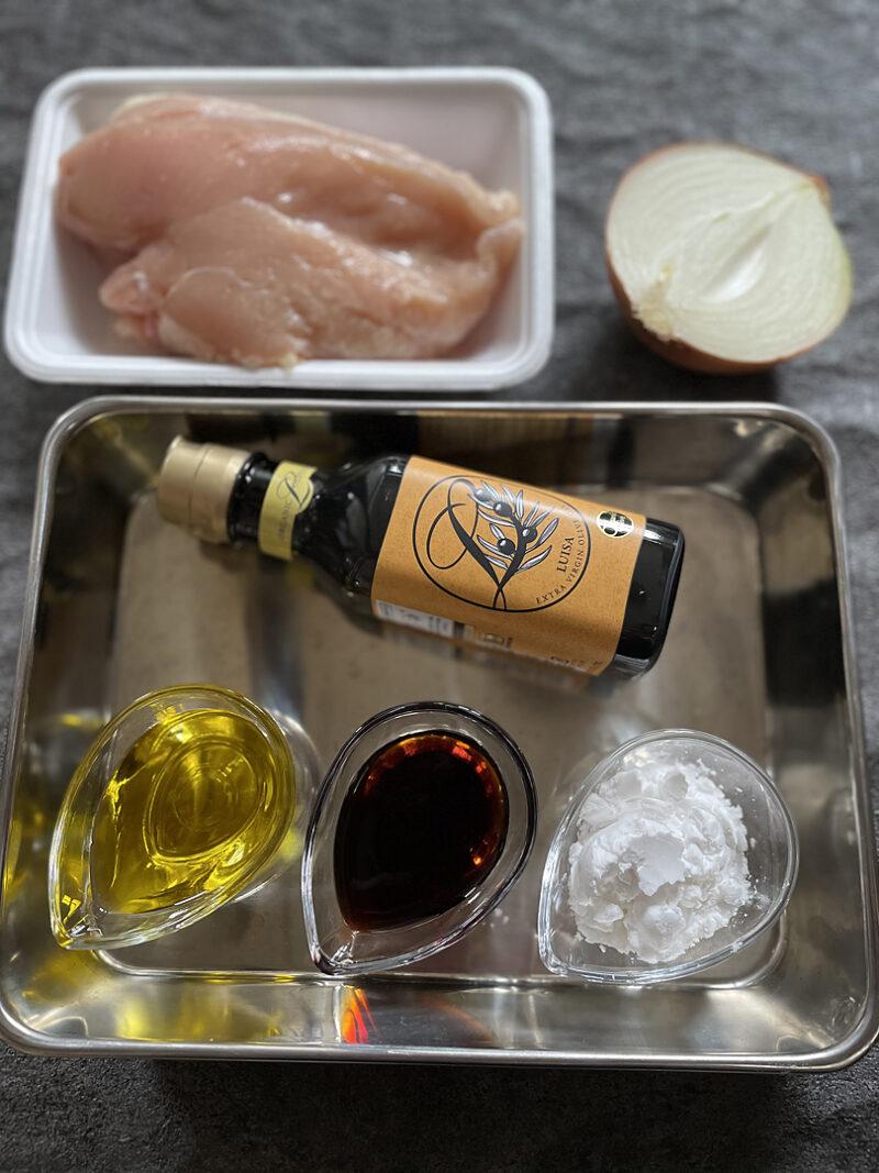 鶏むね肉の和風オリーブオイル炒めの作り方