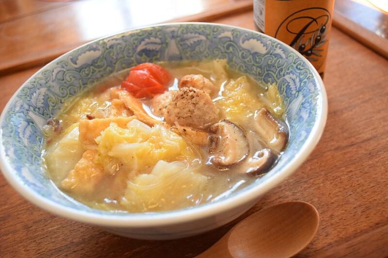 簡単おいしい!白菜と日本酒、オリーブオイルで濃厚無水煮