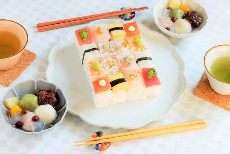 ひなまつりに食べたい!華やかモザイク寿司&ふわふわ3色豆腐白玉