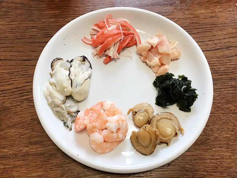 海鮮ごちそう茶碗蒸しの具材