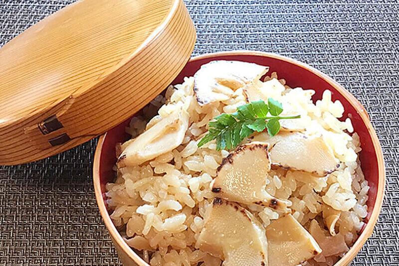 オリーブオイルで作る焼きタケノコ飯