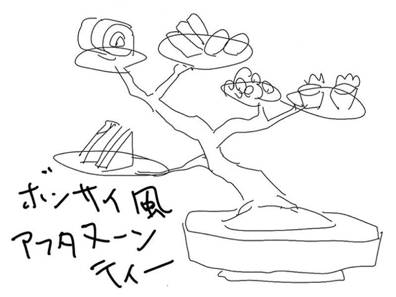盆栽式アフタヌーンティー・スタンド