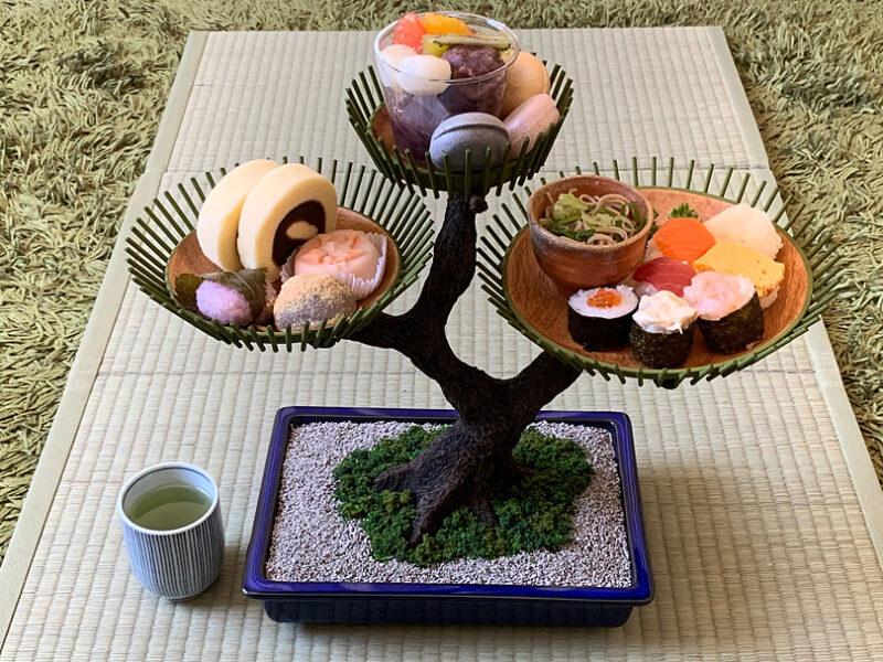 「盆栽式アフタヌーンティースタンド」で和の午後を…/妄想工作キッチン