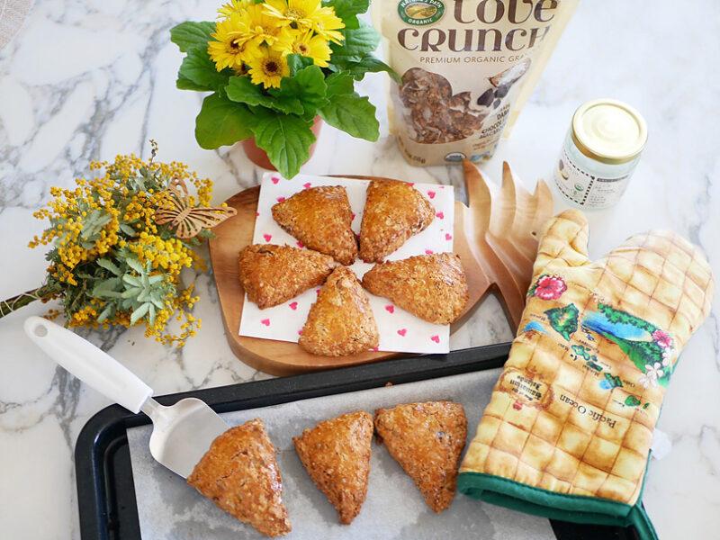 ココナッツオイル、オリーブオイルを使用してバター不使用で作りました