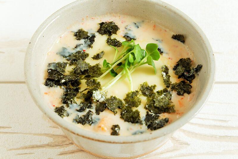 丸ごと豆腐のキムチチーズスープ