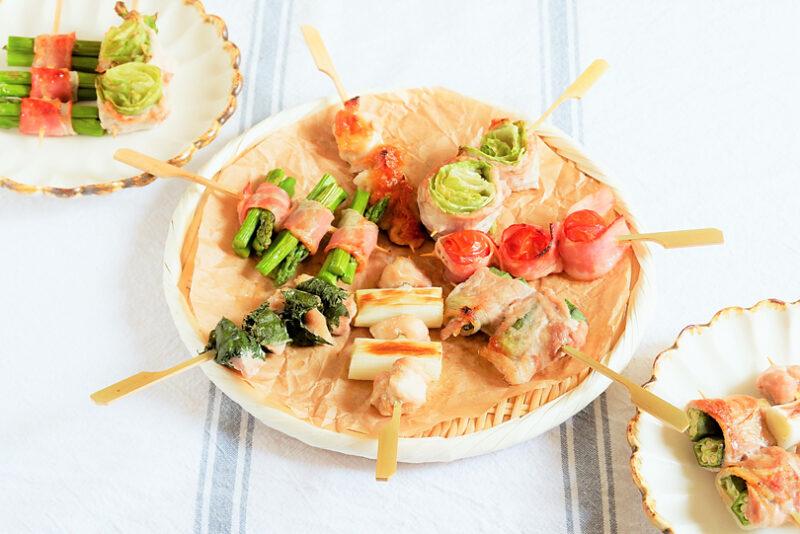 家族が集まる特別な日に食べたい、簡単!野菜巻き串のレシピ
